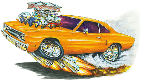 Madd Doggs Plymouth Roadrunner Muscle Car T Shirts And