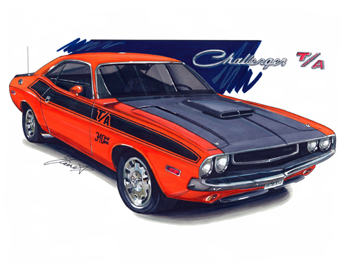 maddmax muscle car art 1970 dodge challenger