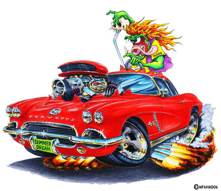 Rat Fink Corvette CorvetteForum Chevrolet Corvette