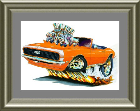 Maddmax Muscle Car Art - Madd Doggs 1968 Chevrolet Camaro ...